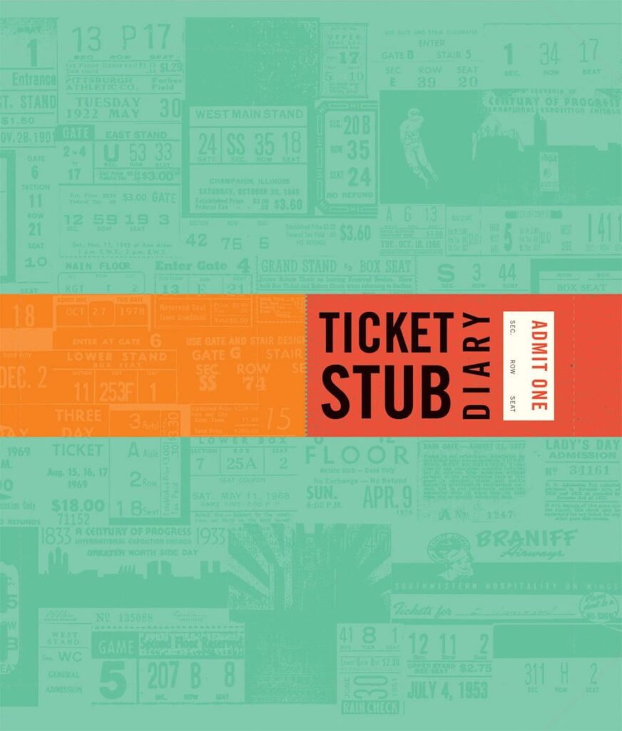 Ticket Stub Diary- best gift for dad to do with son