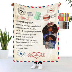 To My Black Daughter Air Mail Blanket
