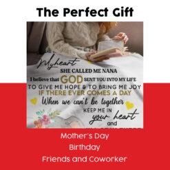 To My Granddaughter She Called Me Nana Elephant Blanket