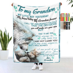 To My Grandson I Am Proud Of You And Love You Blanket