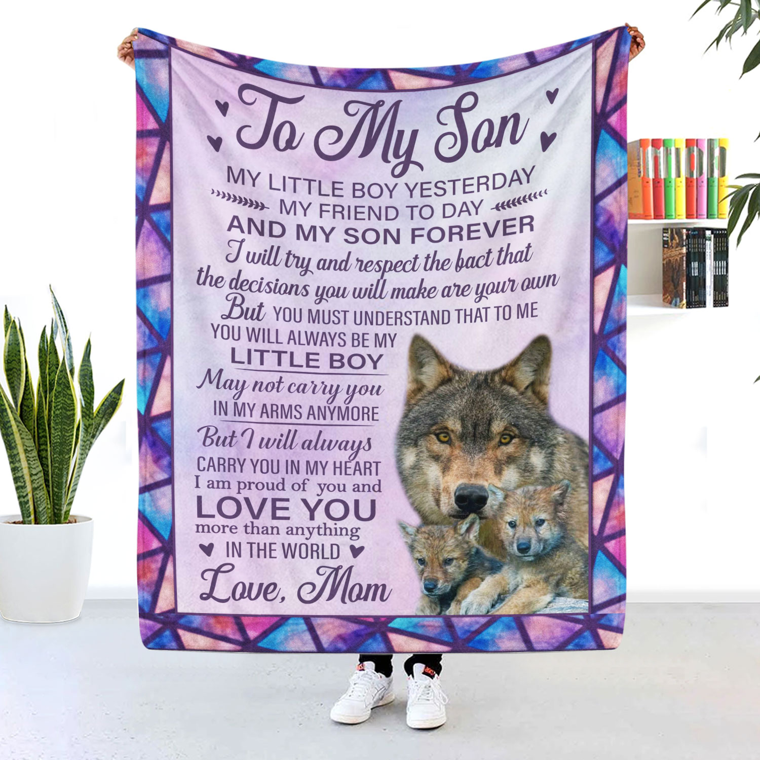 To My Son My Little Boy Yesterday My Son Forever Blanket