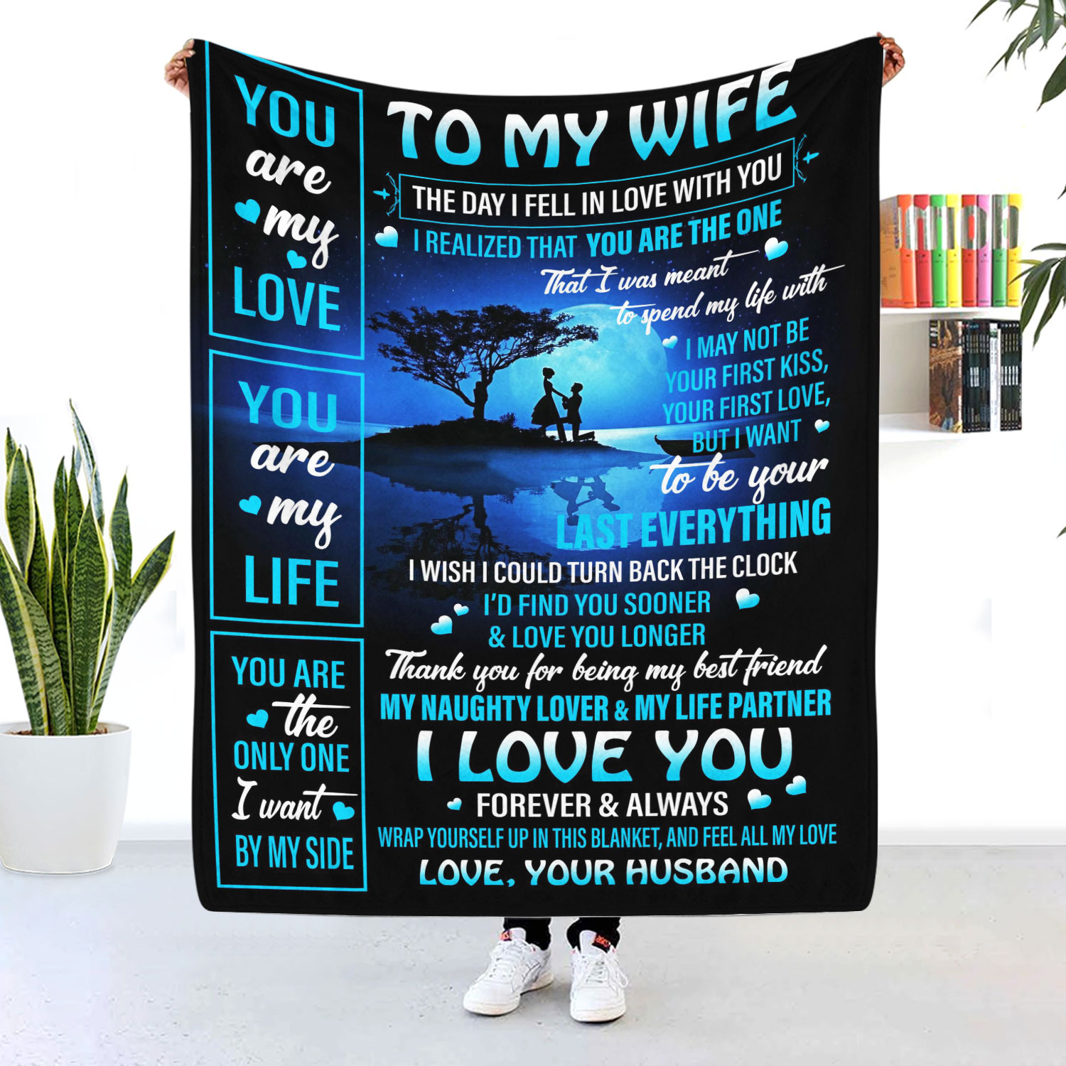 To My Wife I Love You Forever And Always Blanket