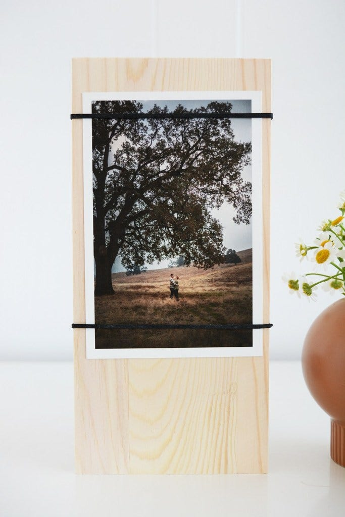 Wood Photo Display- great gift ideas for dad diy