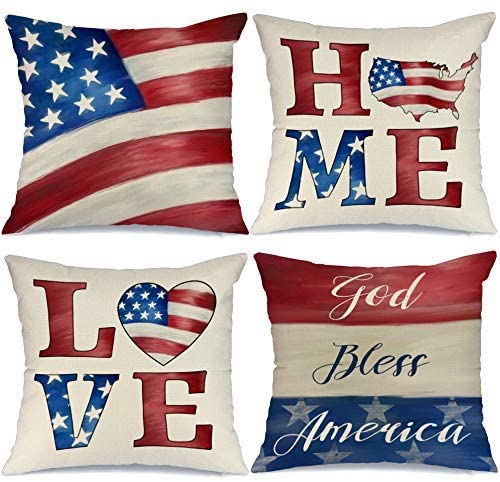 4th of July Decorations Pillow- best Independence Day gift for dad.