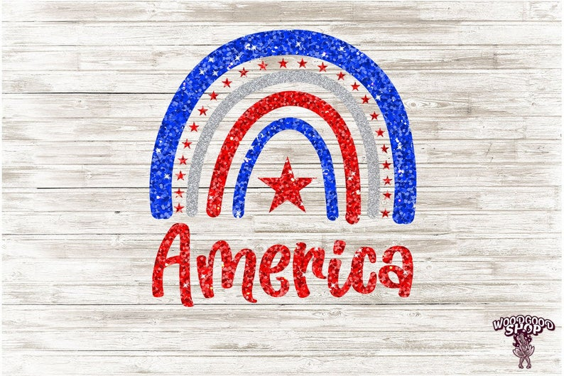 America Rainbow PNG best independence day gift for brother