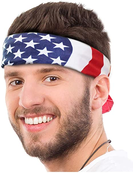 American Flag Bandana Headband- best Independence Day gift for dad.