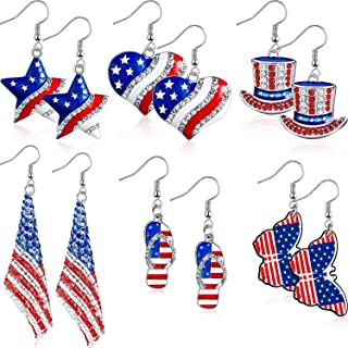 American Flag Earrings- best Independence Day gift for mom.