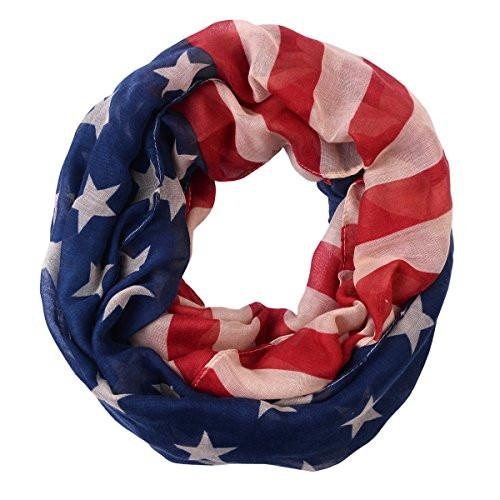 Independence Day gifts for veterans - American Flag Scarf