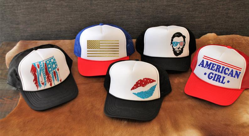 American Flag Trucker Hat - Independence Day Gifts for Teachers