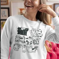 Big Fat Calico Cat Sweatshirt Black Alley Calico Tabby