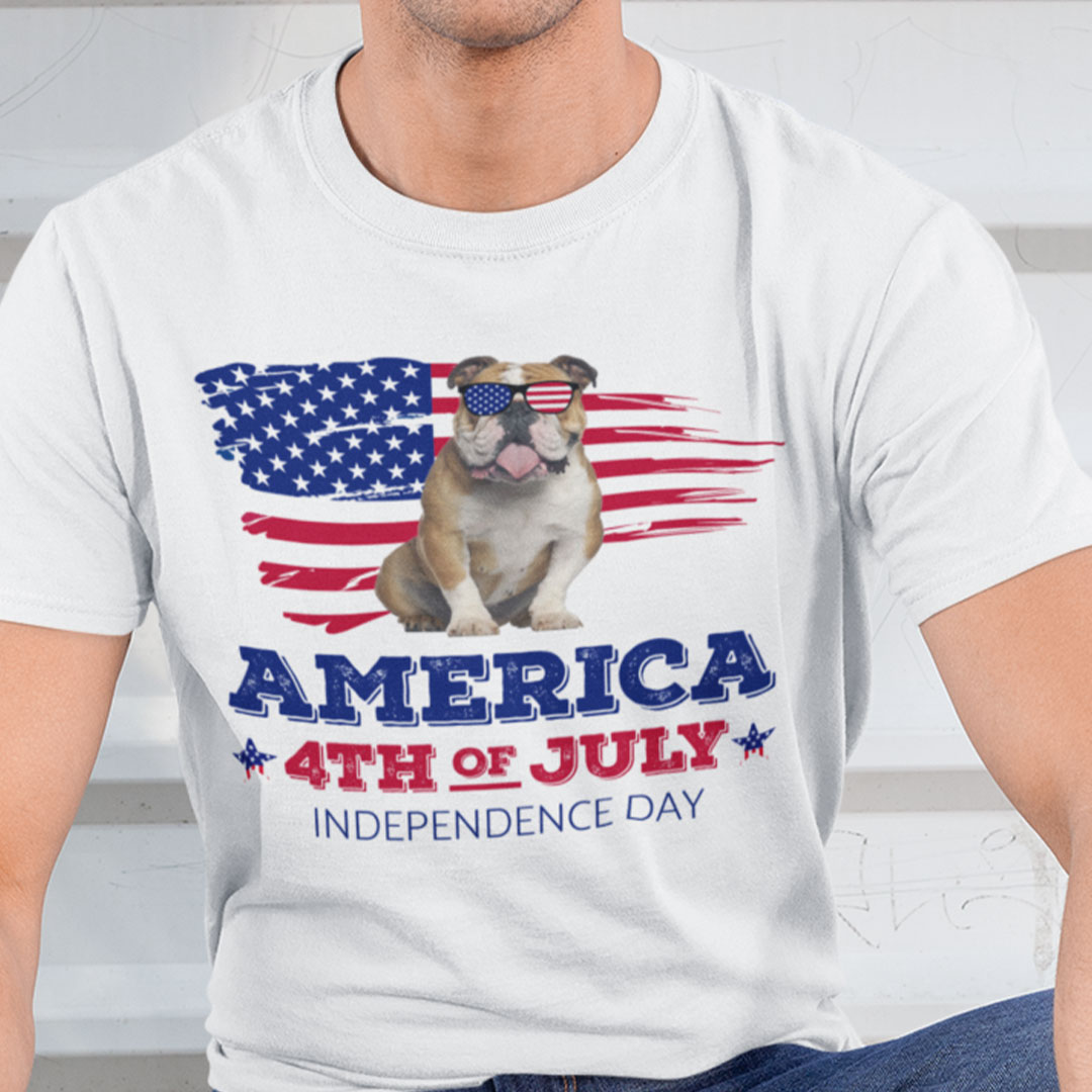 Bulldog America 4th Of July Independence Day Shirt