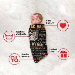 Dear Daddy God Chose You To Be My Dad Blanket