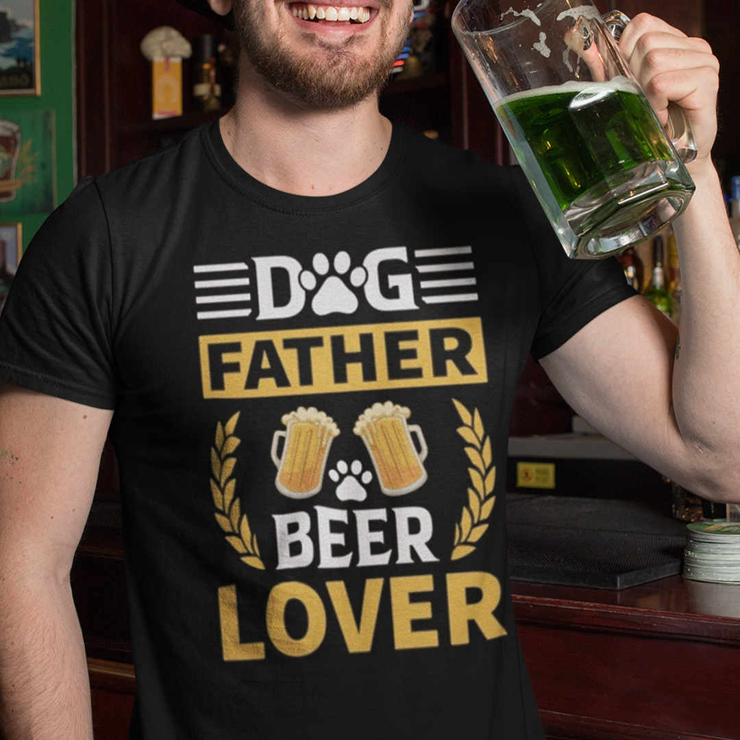 Funny Dog Father Beer Lover Shirt