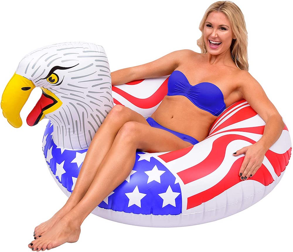 GoFloats American Screaming Eagle Pool- best Independence Day gift for mom.