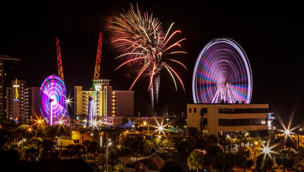 watch 4th of July fireworks in Myrtle Beach
