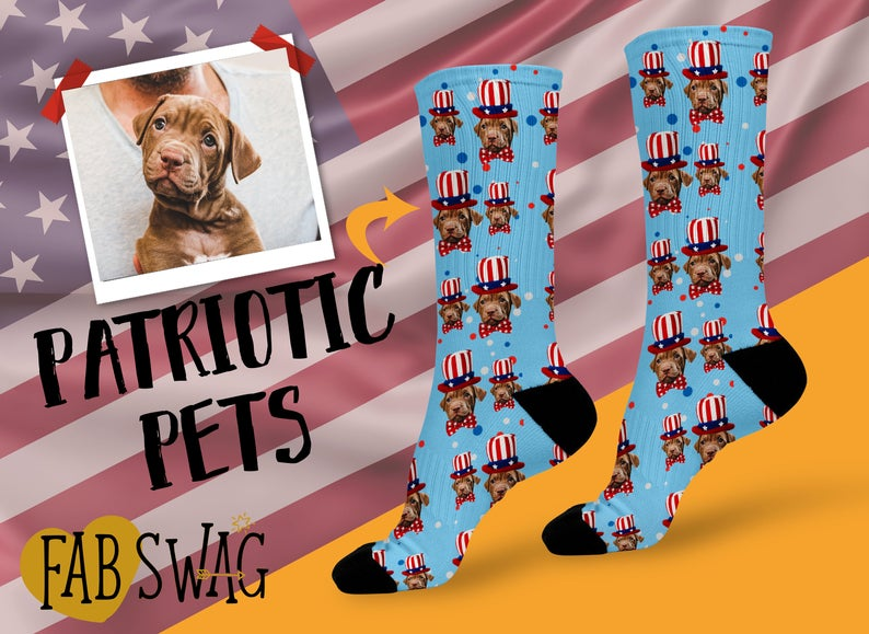 Patriotic Pet Socks-best Independence Day gift under 25$