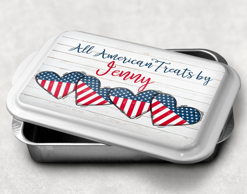 Personalized Cake Pan - Thoughtful Independence Day Gifts for Teachers