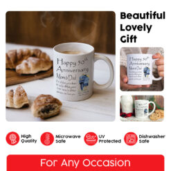 Personalized Happy 50th Anniversary Mom And Dad Mug7