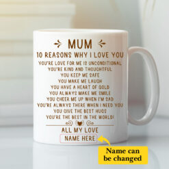 Personalized Mum 10 Reasons Why I Love You Mug