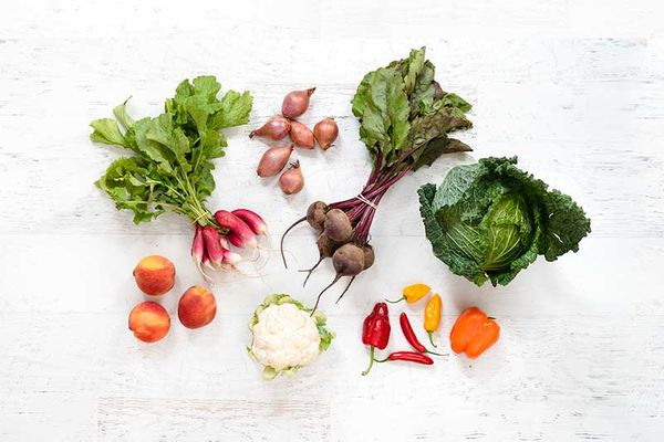 Seasonal Produce Box - what to gift new parents