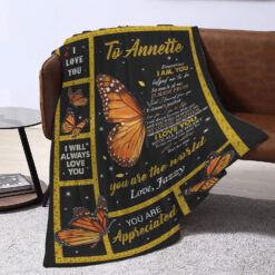 To Mom I Will Always Love You Butterly Personalized Blanket
