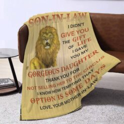 To My Son In Law Lion Blanket