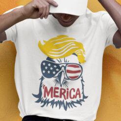 Trump Merica Eagle Shirt 4th Of July Trump American Flag