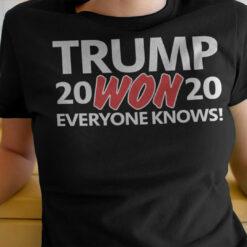 Trump Won 2020 Everyone Know Pro Trump Shirt