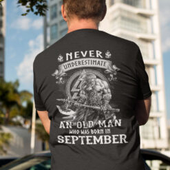 Viking Warrior Shirt An Old Man Born In September