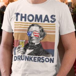 Vintage Thomas Drunkerson American Flag 4th Of July Shirt