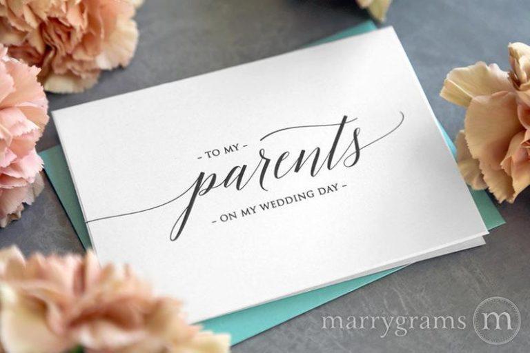 Wedding Card to Parents