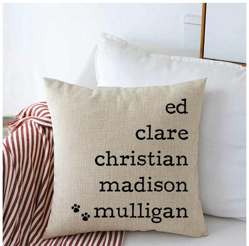 What is a good gift for parents- Custom Family Names Pillow Cover
