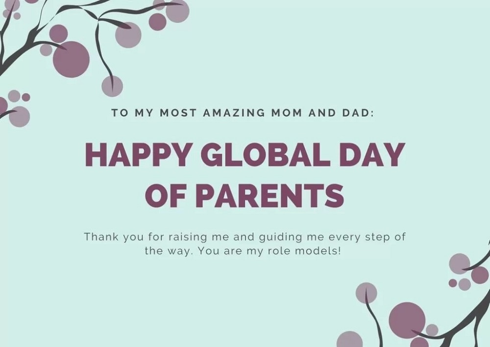 Happy Global Parents Day greetings cards