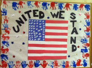how to decorate school for Independence Day