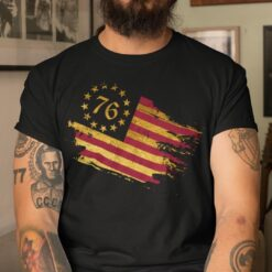 Betsy Ross Flag T Shirt 5-Pointed Stars