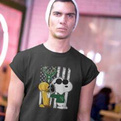 Bucks Championship T Shirt Snoopy Joe Cool Fear The Champions