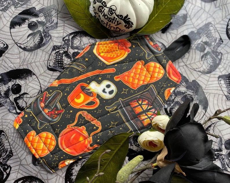 Coffin Pot Holder- best Halloween gift for grandma.