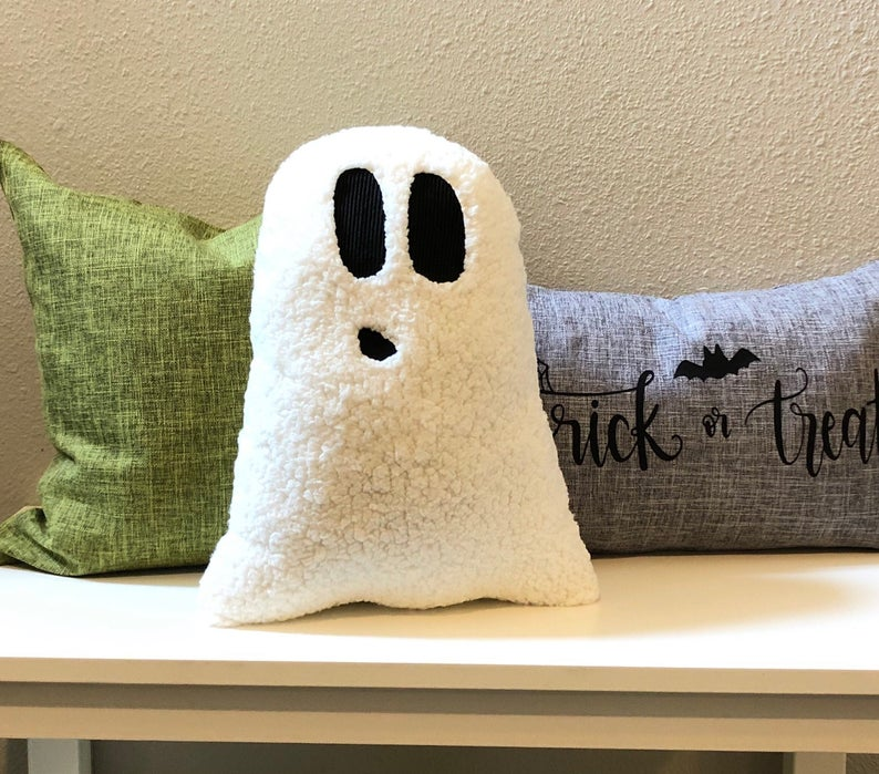 Cuddly Ghost Pillow- best Halloween gift for dad.