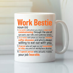 Funny Work Bestie Mug Work Bestie Definition