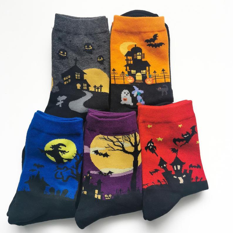Halloween Socks- best Halloween gift for dad.