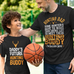 Hunting T Shirt Daddy's Future Hunting Buddy Dear Couple