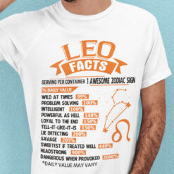 Leo T Shirt Serving Per Container 1 Awesome Zodiac Sign