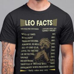 Leo Zodiac Shirt 1 Awesome Zodiac Sign Facts