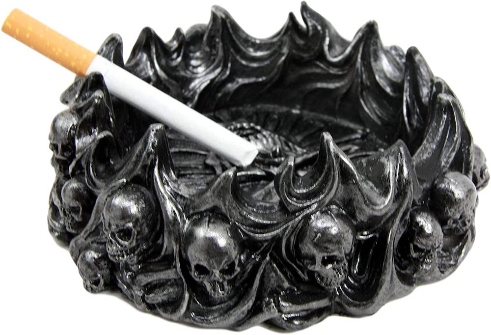 Skull Ashtray- best halloween gift for dad.