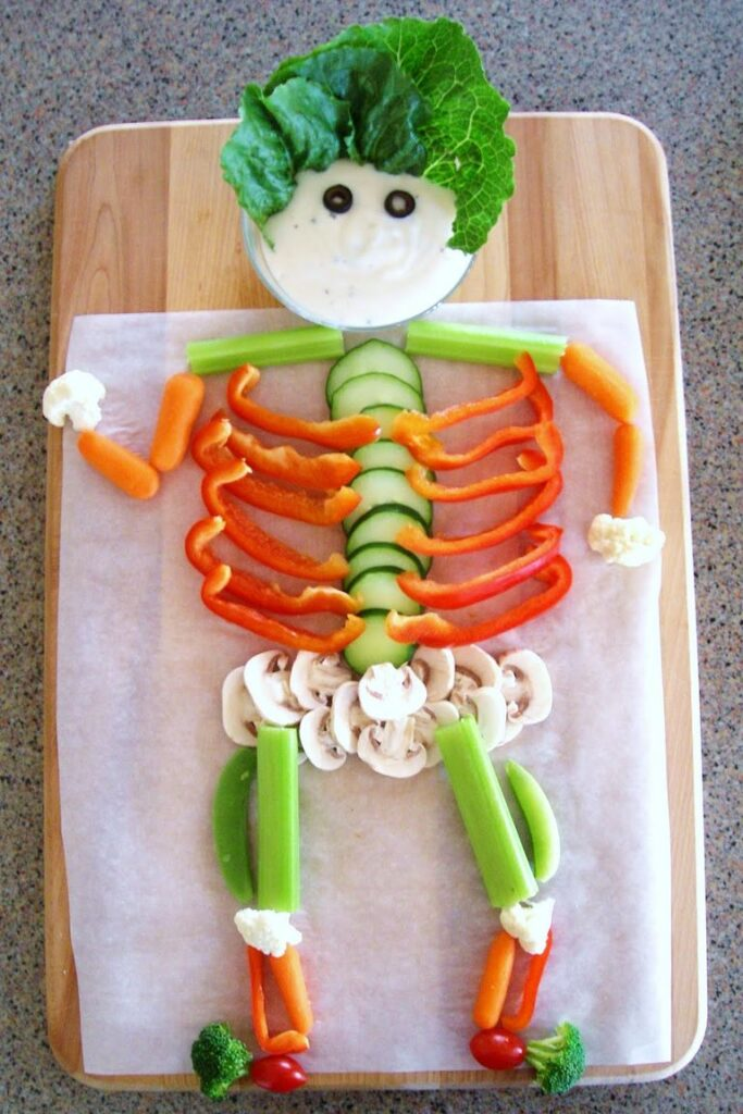 MuVeggie Skeleton - cute Halloween food ideas for party