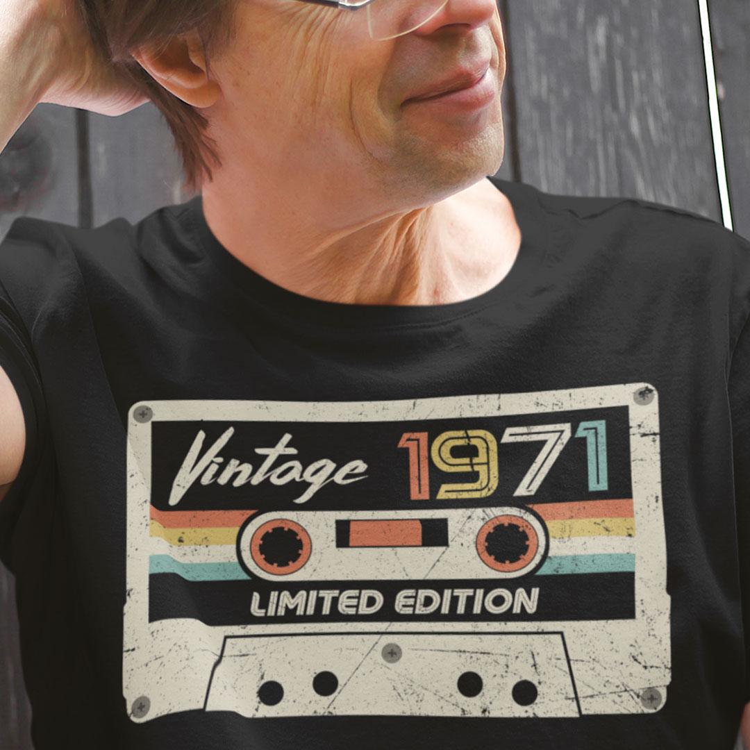 Vintage 1971 T Shirt Vintage 1971 Limited Edition