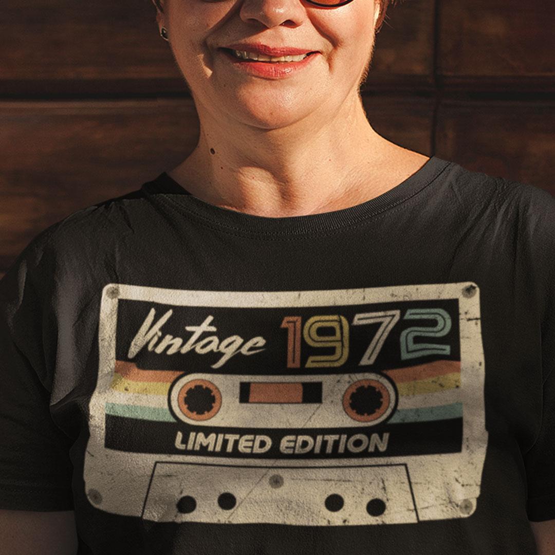 Vintage 1972 T Shirt Vintage 1972 Limited Edition