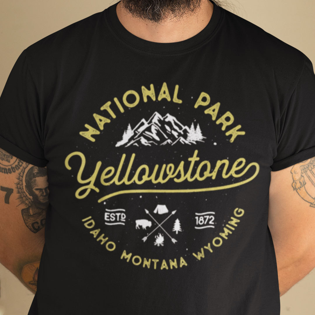 Yellowstone National Park T Shirt Est 1872