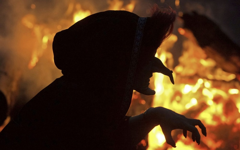 Witches are associated with Halloween Day