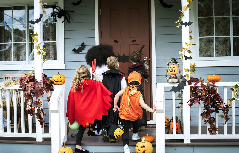 Trick or treating tradition came to the United States